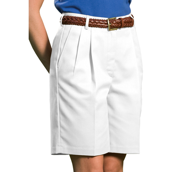 """Promotional Women's Business Casual Pleated Short with 9""""/ 9 1/2"""" Inseam"""