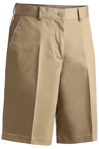 "Promotional Women's All Cotton Pleated Shorts 9/ 9.5"" Inseam"
