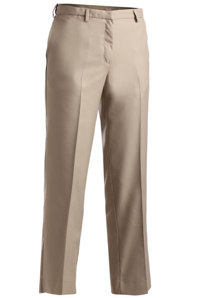 Custom Women's Microfiber Easy Fit Flat Front Pants