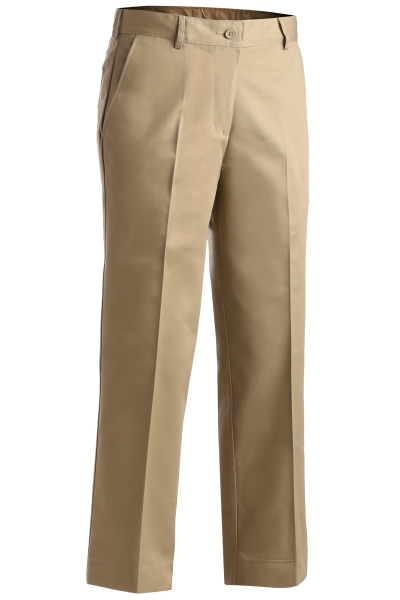 Personalized Women's Blended Chino Flat Front Pants