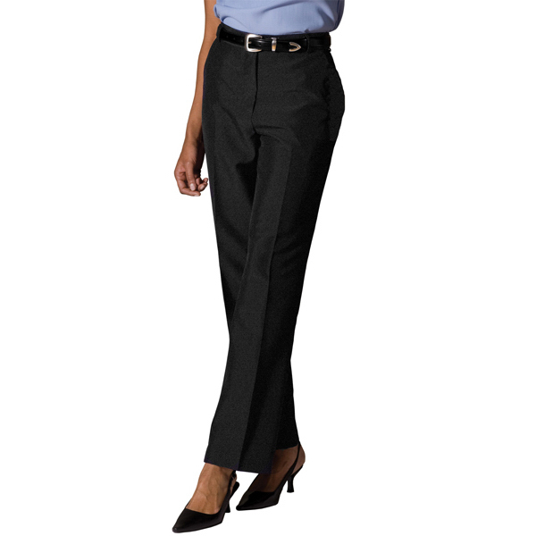 Promotional Women's Lightweight Wool Blend Flat Front Pants