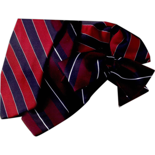 Custom Women's Floppy Bow Tie in Repp Stripe