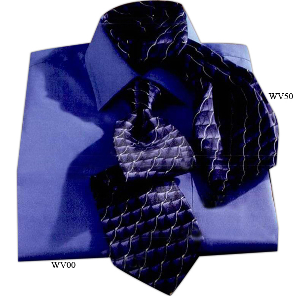 Imprinted Wave Tie