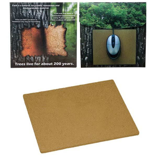 Printed Cork Mouse pad