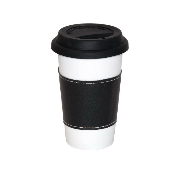 Imprinted 11 oz. Medi Mug With Sleeve