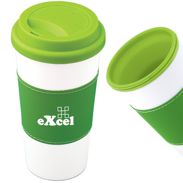 Customized 500 ML (16 oz.) Mighty Plastic Mug With Sleeve