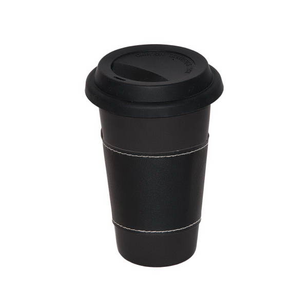 Imprinted 11 oz. Matte Black Medi Mug With Sleeve