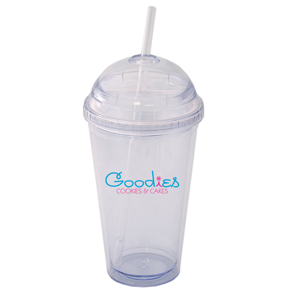 Printed 200 ml (16 oz.) Double Walled Tumbler with Dome Lid