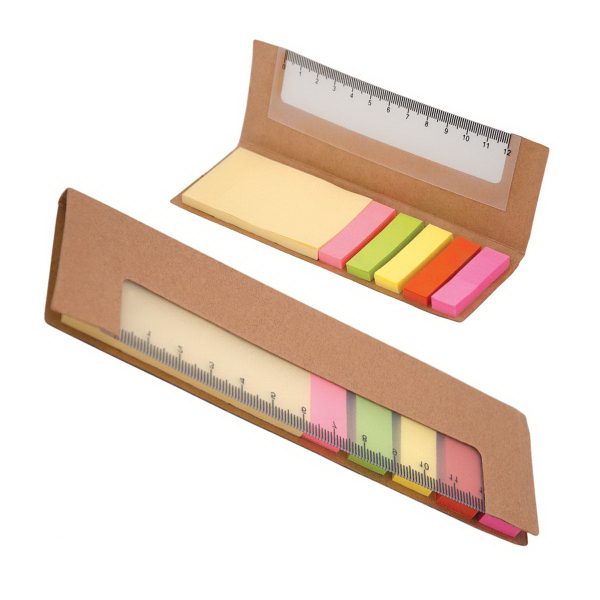 Custom 300 Sticky Notes with Ruler