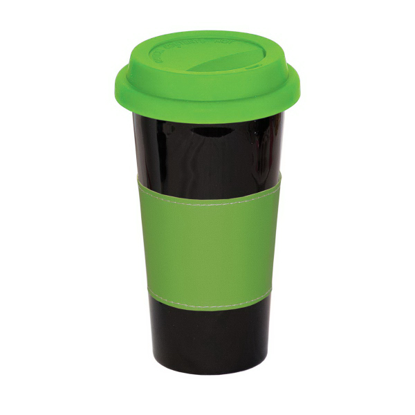 Imprinted 16 oz. Mighty Mug With Sleeve