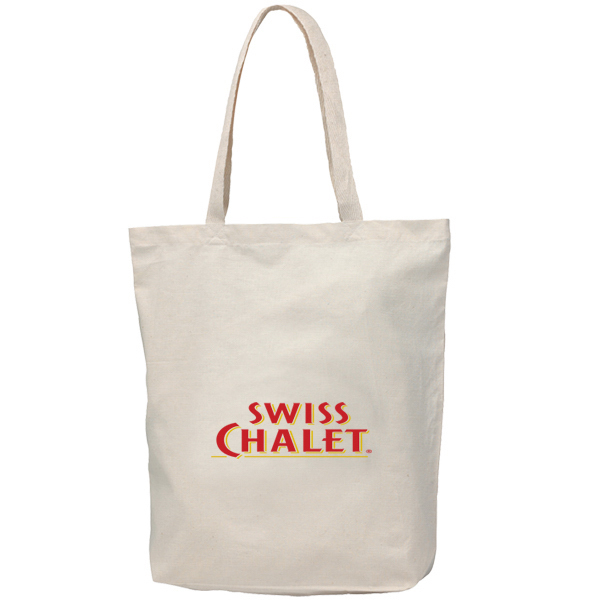 Printed Econo Cotton Tote Bag With Gusset