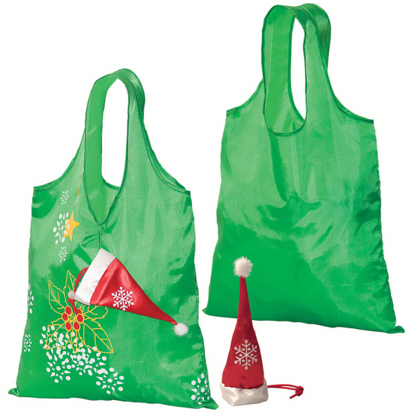 Imprinted Holiday Folding Tote