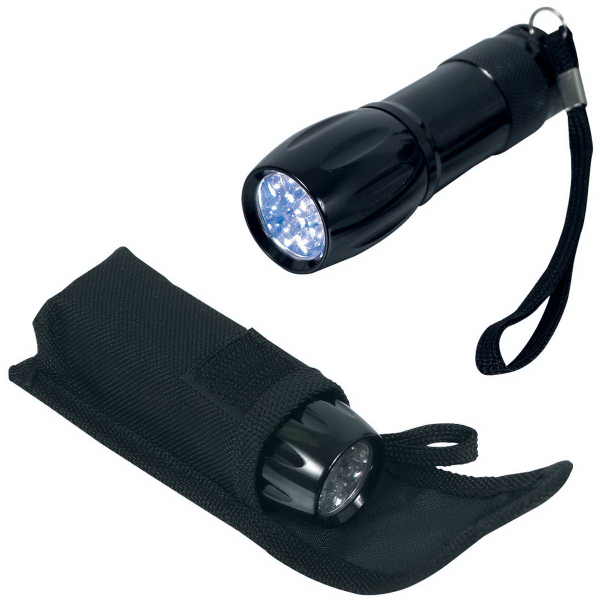 Imprinted 9 LED mini flashlight
