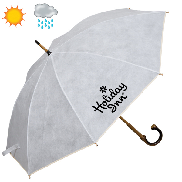Personalized Non Woven Executive Umbrella With Bamboo Shaft