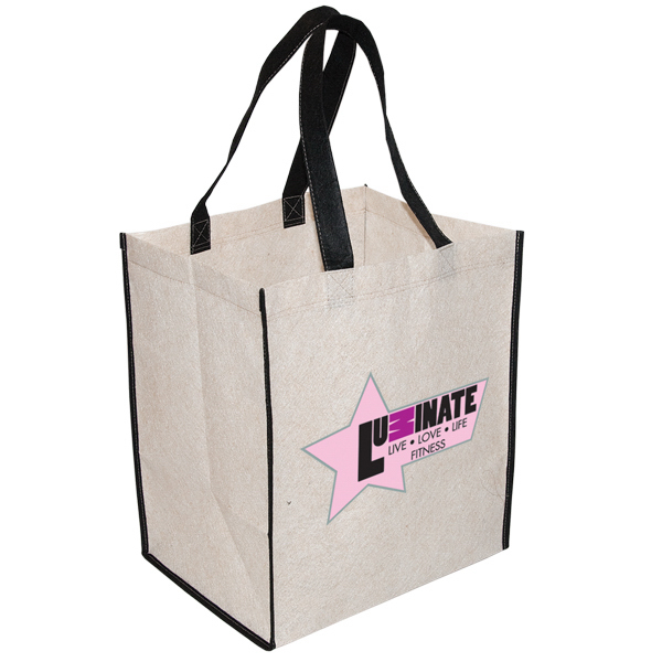 Customized Large Jute Non Woven Grocery Tote