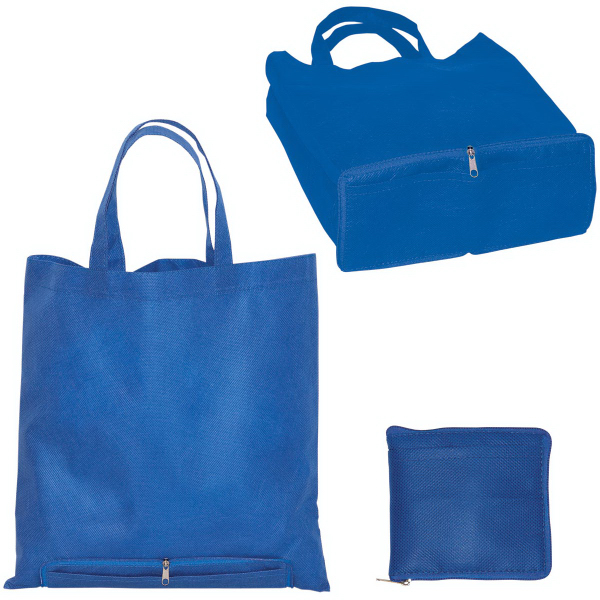 Custom Non Woven Zippered Folding Tote
