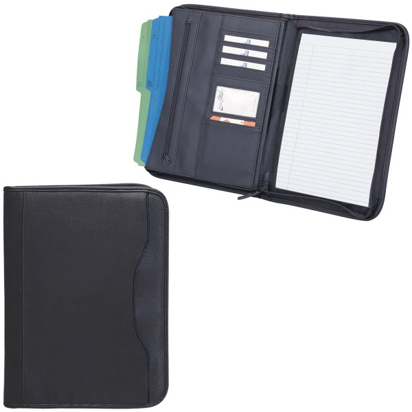 Personalized Zippered Notepad Portfolio