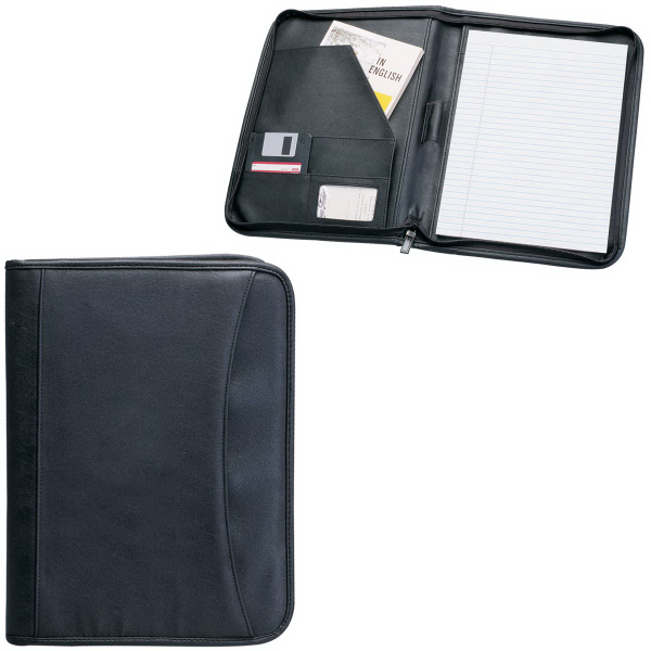Promotional Zippered Notepad Portfolio