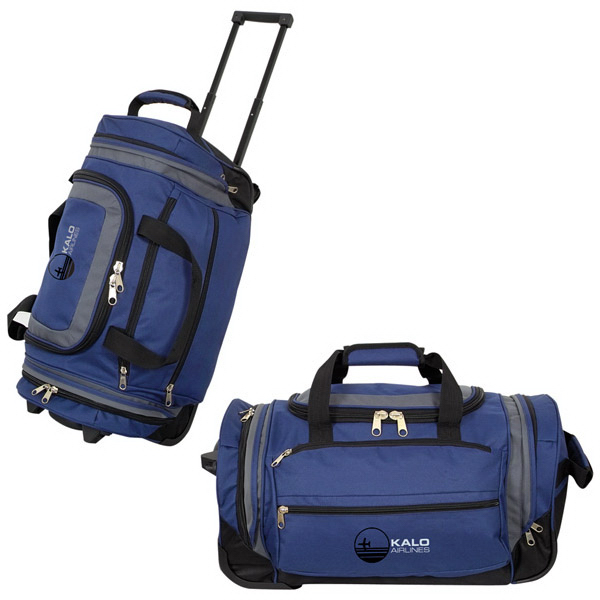 "Promotional 22"" Duffle Bag On Wheels"