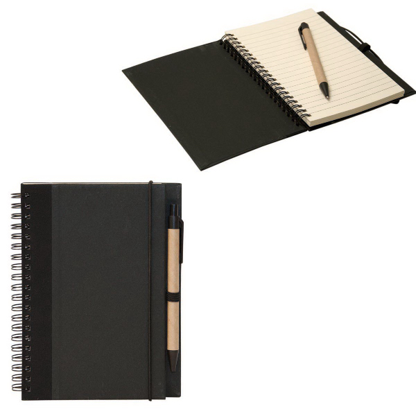 Imprinted Recycled Cardboard Notebook