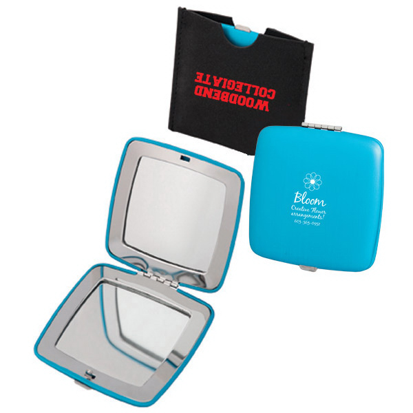 Imprinted Travel Mirror in a Pouch