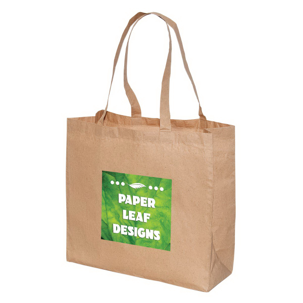 Customized Large Laminated Paper Shopping Tote