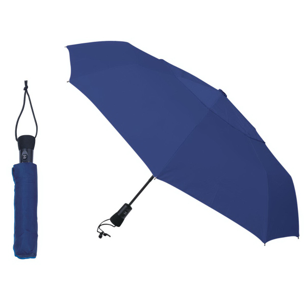 Imprinted Telescopic Folding Umbrella