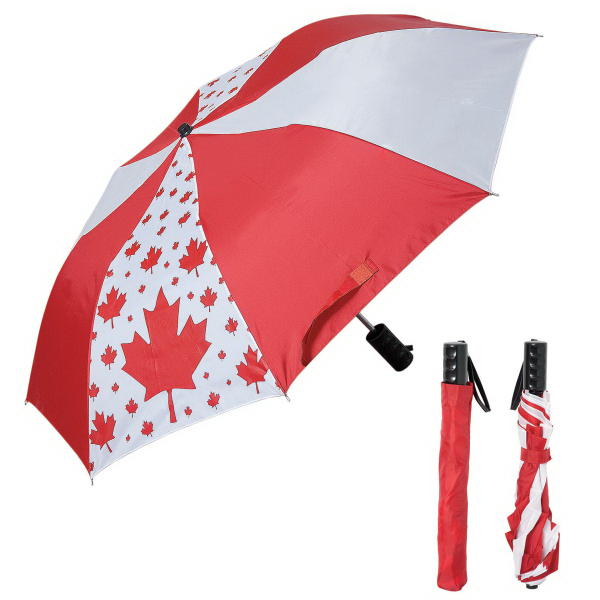 Printed Folding Canada Umbrella