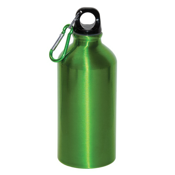 Customized 500 ml (16 oz) Aluminum Water Bottle With Carabineer
