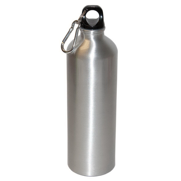 Printed 750ml (25 oz.) Aluminum Water Bottle With Carabiner