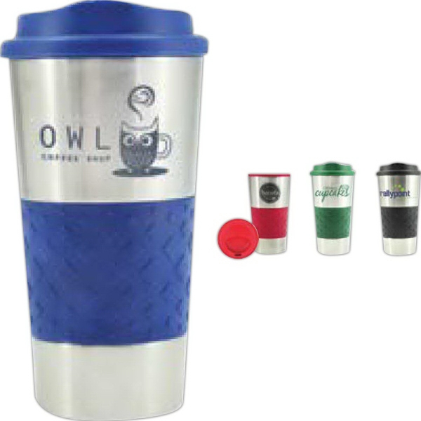 Customized 16 oz Grip N Go Stainless Tumbler