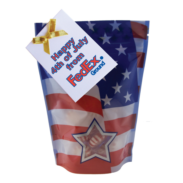 Imprinted Large Window Bag with Starlite Breath Mints - Patriotic