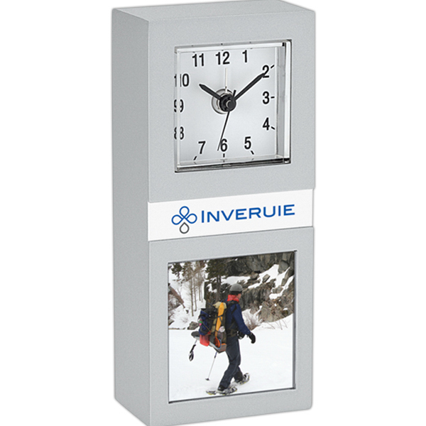 Imprinted Domino Clock & Photo Frame