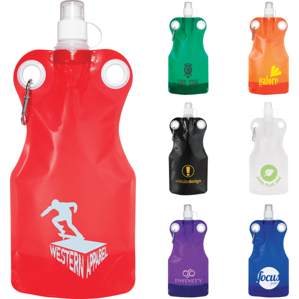 Personalized Hermosa 21-oz. Water Bag With Carabiner