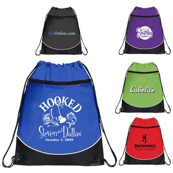 Promotional Pocket Drawstring Backpack