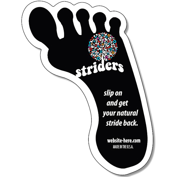 "Personalized Magnet - Footprint Shape - Right 2.625"" x 3.5"" 25 mil"
