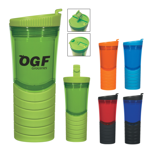 Printed 16 oz. Double Wall Banded Gripper Bottle