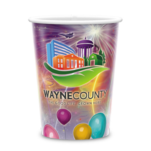 Printed Visstun®-17oz-Reusable Wht Plastic Cup-Full Color