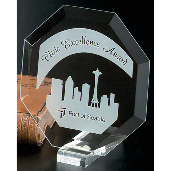 Imprinted Prisma Octagon Award