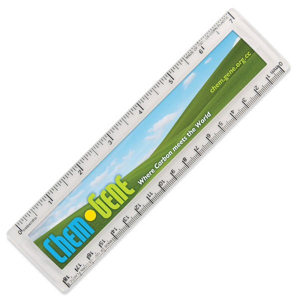 "Personalized NatureAd (TM) Corn Plastic Quickview 7"" Ruler"