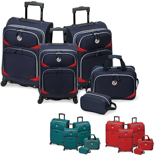 Imprinted San Vincente 5 Pc Set Luggage