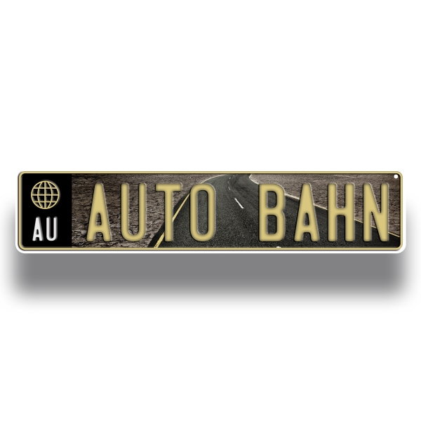 Promotional European License Plate (4 color process imprint)