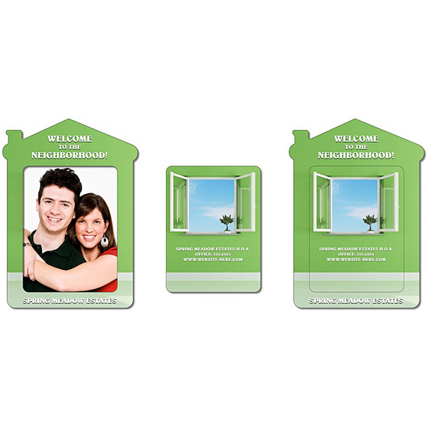 "Personalized Magnet - House Shape Picture Frame 4.3"" x 6"" - Outdoor Safe"