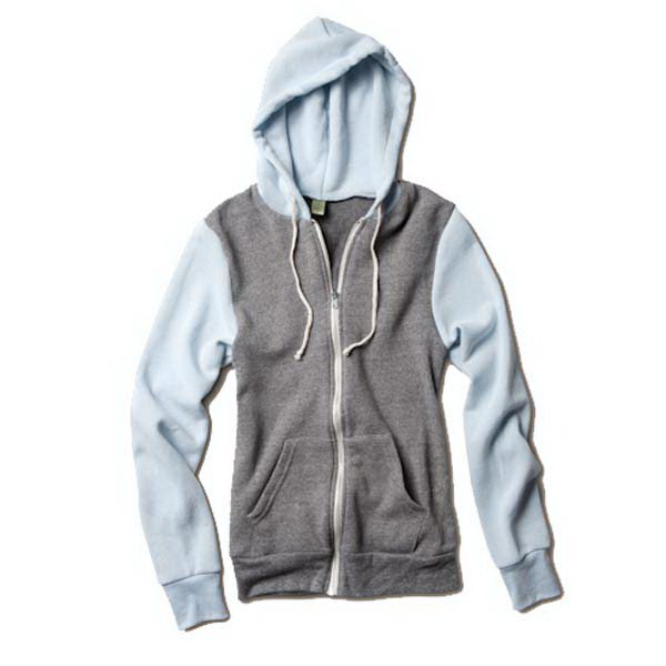 Personalized Unisex Color-Blocked Rocky Zip Hoodie