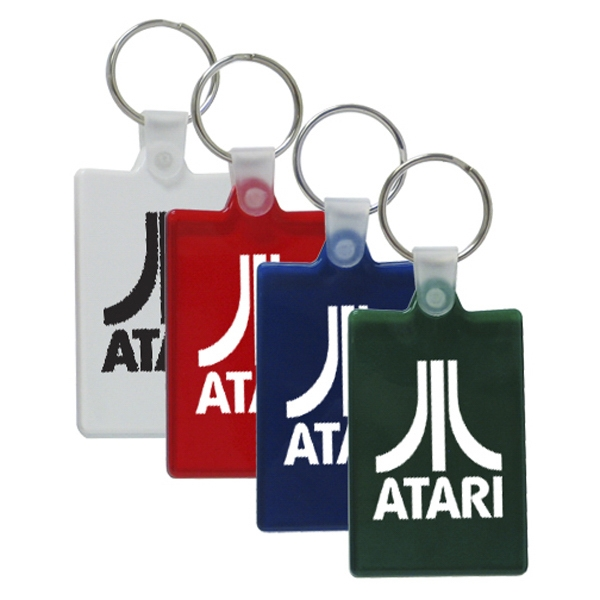 "Customized 2"" Rectangular Key Chain"