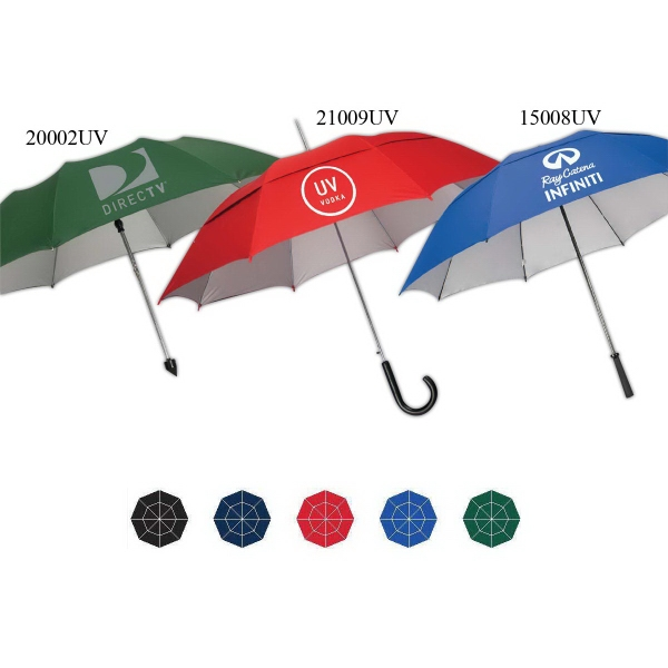 Imprinted UVdefyer Auto Open Stick/Fashion Umbrella