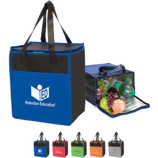 Personalized Tote-it-all colorful cooler