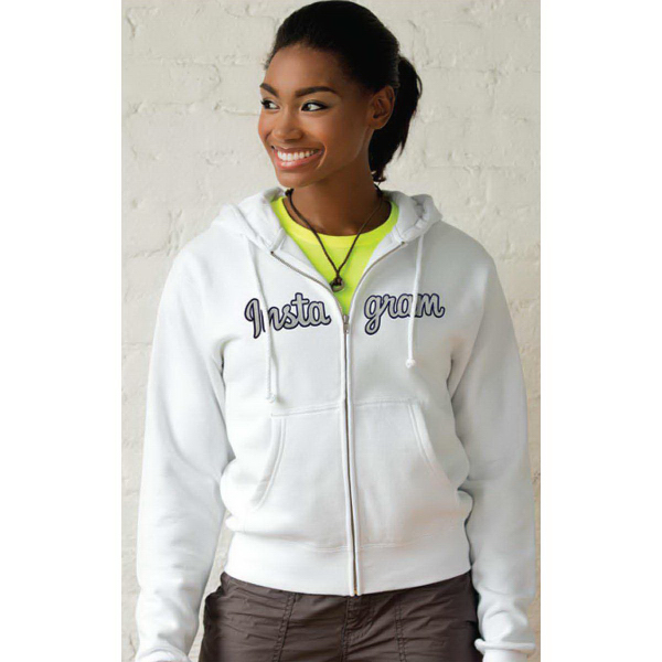 Custom Women's Premium Cotton Fleece Full-Zip Hoodie