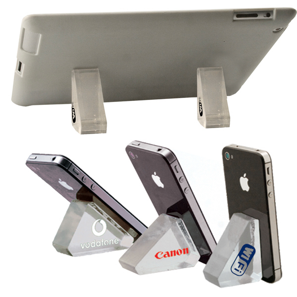 Imprinted Tech Wedge Phone and Tablet PC Easel Back