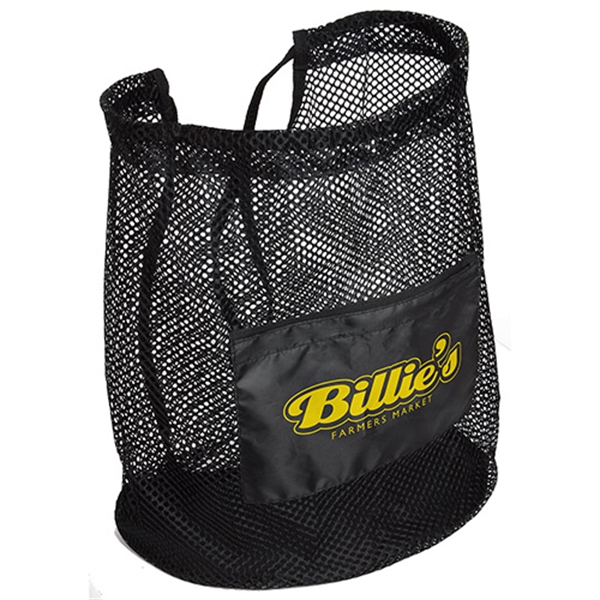 Personalized Flex Mesh drawstring bag